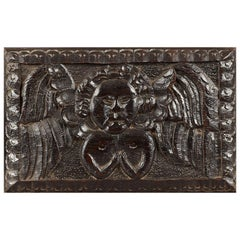 Elizabethan Oak Angel Panel, English, circa 1580-1600