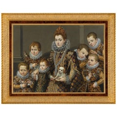 Bianca Maselli with Children, after Renaissance Oil Painting by Livinia Fontana