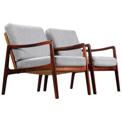 Pair of Model 119 Chairs by Le Wanscher for France & Son