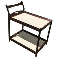 Sergio Rodrigues for OCA, Tea Trolley in Rosewood