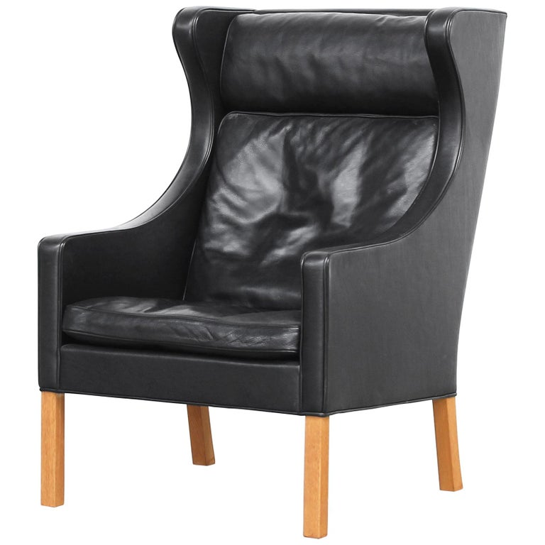 Lounge Wingback Chair 2204 by Børge Mogensen for Fredericia Stolefabrik