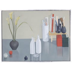 Modernist Still Life Oil Painting on Canvas by Enid Munroe