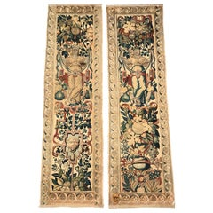 Pair of 18th Century Flemish Portiere Tapestries with Mythological Figures