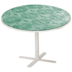 Dining Table Caldas 75Ø with Handmade Tiles