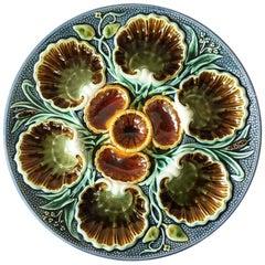 Majolica Oyster Plate, Röstrand, circa 1880