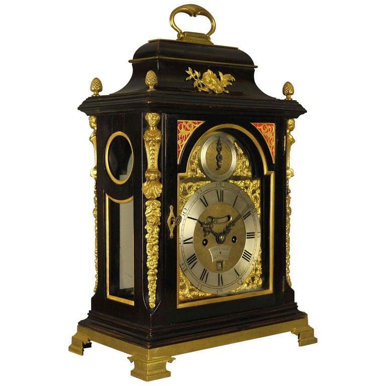 Verge Fusee Bracket Clock, William Smith, London