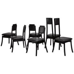 Angelo Mangiarotti Set of Six Dining Chairs, Italy, 1970s