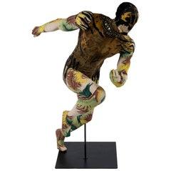 Running Man Art Tapestry Mannequin