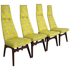 Set of Four Mid-Century Modern Adrian Pearsall High Back Dining Chairs