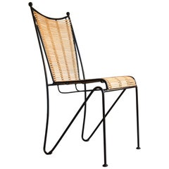 6 Pipsan Saarinen Swanson Iron and Cane Dining Chairs for Ficks Reed