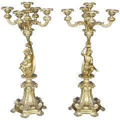 Pair of 19th Century Italian Candelabras