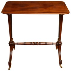 Minimalist Regency Mahogany & Ebonized Inlaid Writing Table English, circa 1800