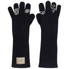 Black Opera Gloves by Saved, New York