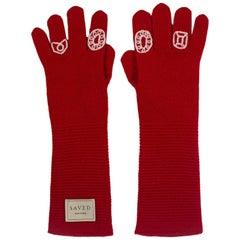 Red Opera Gloves by Saved, New York