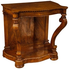 20th Century Carved Walnut Wood French Writing Desk, 1920