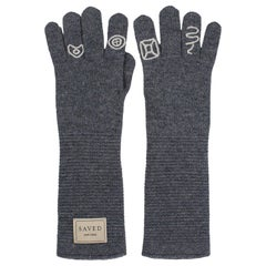 Gray Opera Gloves by Saved, New York