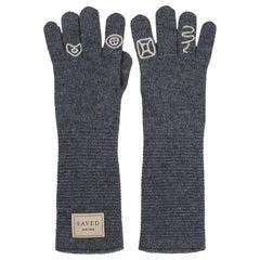 Gray Opera Gloves by Saved, New York