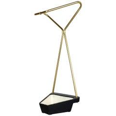 Original Midcentury Metal Brass Modernist Bauhaus Umbrella Stand, Germany, 1950s