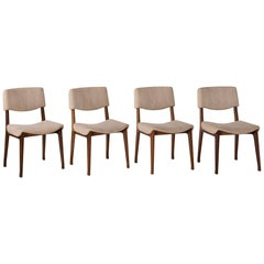 Set of '4' Modern Dining Chairs by M.I.M., circa 1960