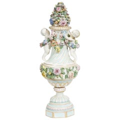 Meissen Covered Figural Vase, 1774-1815
