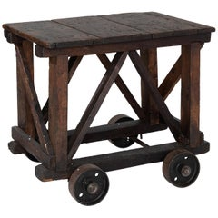 Industrial Wheel Table, circa 1940