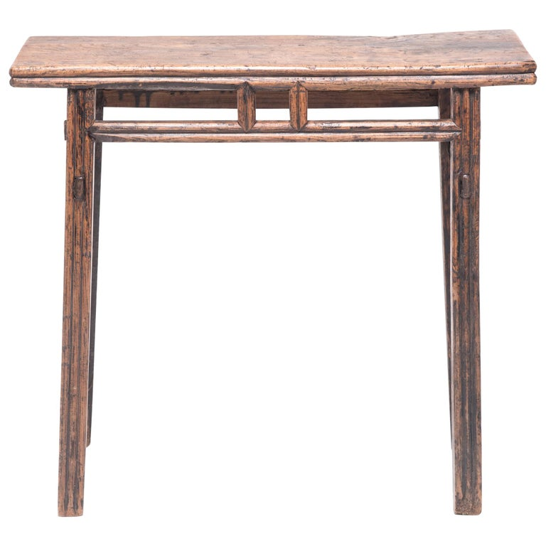 Provincial Chinese Stacked Stretcher Console Table For Sale