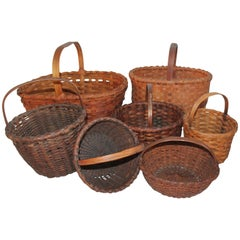 19th Century Baskets from New England / Collection of Seven