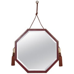 Ultra Chic Leather Mirror by Jean Pascaud