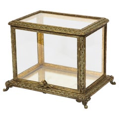 Baccarat Paris, a French Bronze and Glass Table Vitrine Box Cabinet, circa 1880
