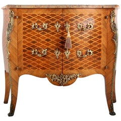 Late 19th Century French Louis XV Marquetry Commode/Cabinet