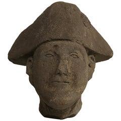 Scottish Stone Bust of a Gentleman