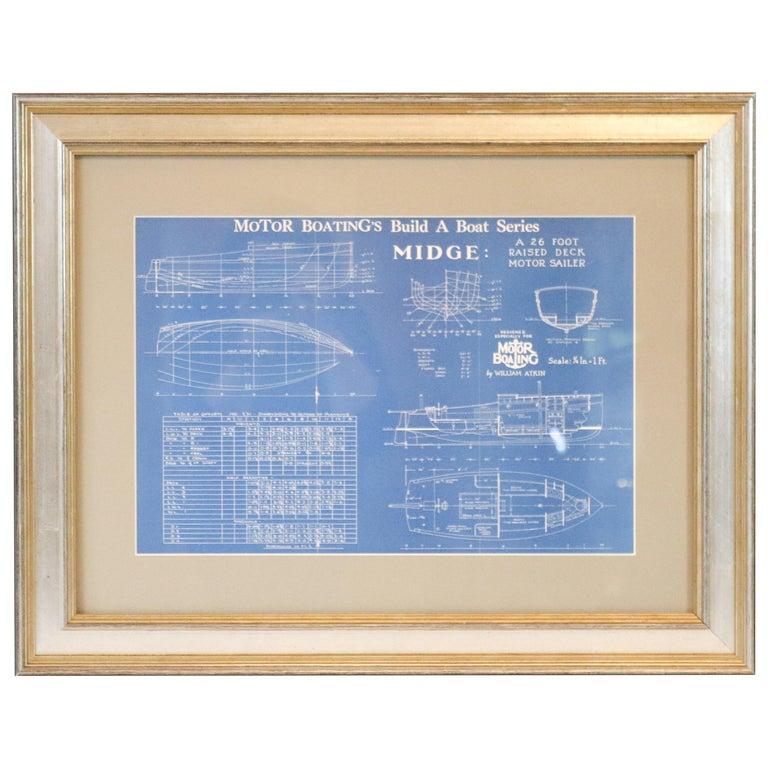 "Motor Boating Blueprint of ""Midge"""