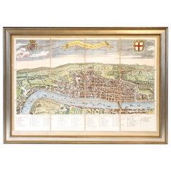 Twelve Panel Engraving of London