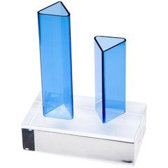Prism Vase, Contemporary Sculptural Acrylic Vase