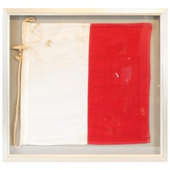 Red and White Nautical Signal Flag
