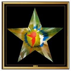 Damien Hirst Original Star Spin Painting Signed and Blind Stamped 2009