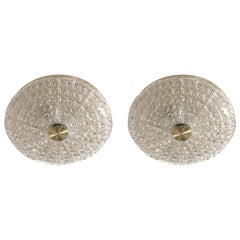 Pair of Flush Mount Ceiling Lights by Carl Fagerlund, 1970s