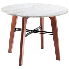 Dinner Table Flex in Marble and Solid Wood