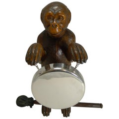 Magnificent Carved Black Forest Monkey Gong, circa 1890