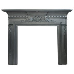 Duchess an Antique Large Victorian Cast Iron Fireplace Surround