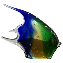 Multicolored Blown Glass Fish