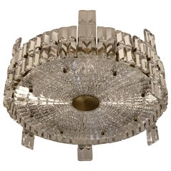 Orrefors Large Crystal Chandelier Mid-Century Modern