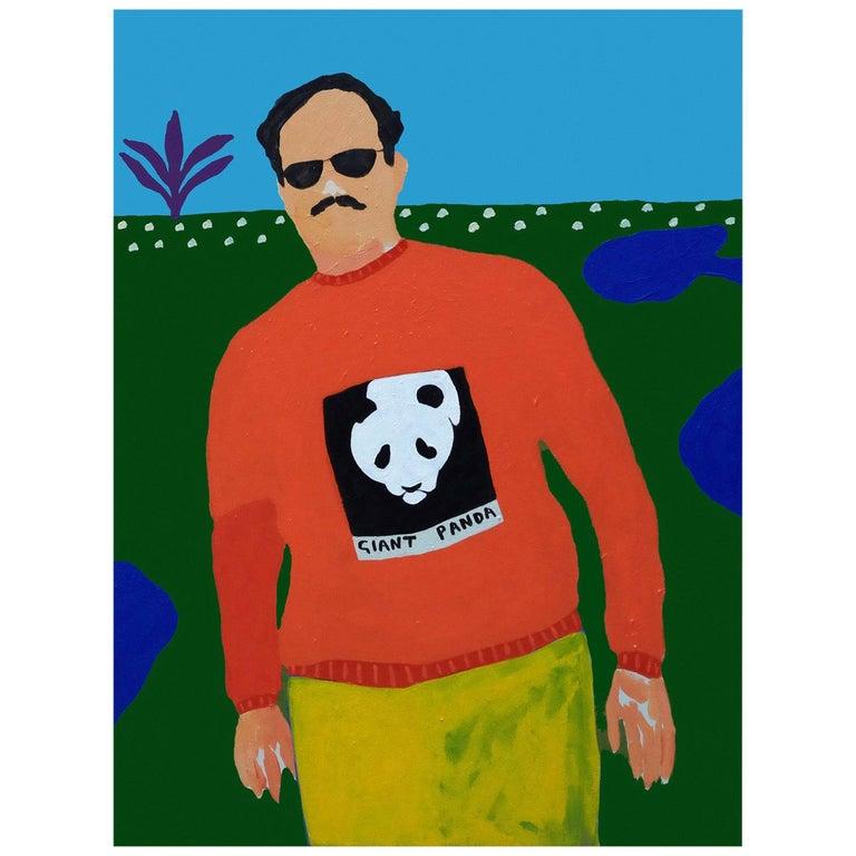 'Endangered Species' Portrait Painting by Alan Fears Pop Art Panda For Sale