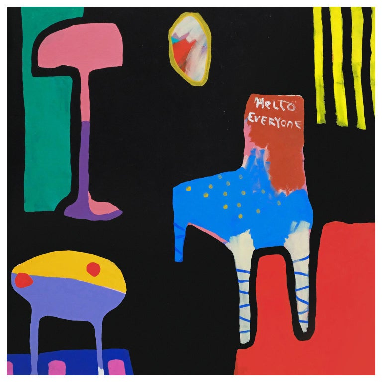 'New Chair' Still Life Abstract Painting by Alan Fears Pop Art For Sale
