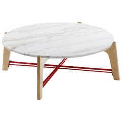 Center Table Flex in Marble and Solid Wood