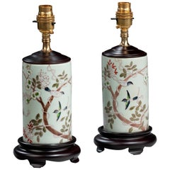 Pair of Prunus Blossom Lamps