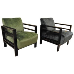 Pair of French Armchairs Belonging to the Rationalist Current, 1940s
