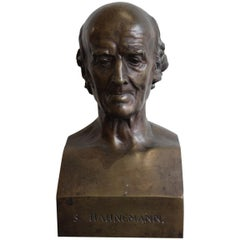 Bronze of Samuel Hahnemann by David d'Angers, 1837