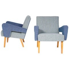 Pair of Retro Armchairs, Czechoslovakia