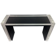 Mid-Century Modern Acrylic and Natural Shagreen Waterfall Console, In Stock